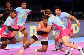 Pro Kabaddi League 2017: Jaipur Pink Panthers Edge Past Bengaluru Bulls to Register Win