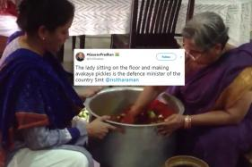 A Video Of India's Defence Minister Making 'Avakaya' Pickle Is Going Viral
