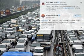 Clear Your Jam First: Gurugram Cops, Delhi Traffic Police Bicker on Twitter