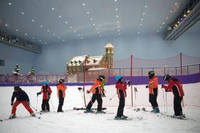 Chinese Skiers Cool Off at World's Largest Indoor Ski Park