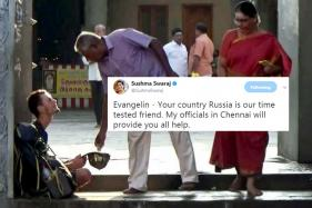 Russian Man Found Begging Outside Temple, Sushma Comes To Rescue