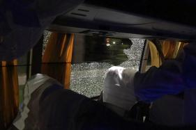 Rock Shatters Window of Australian Cricket Team's Bus in Guwahati