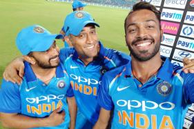 Dhoni Steals the Show as Players Pose for Selfies Post Series Win