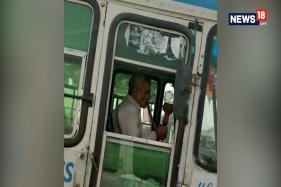 Video Showing Haryana Bus Driver Smoking Hookah lands Him in Trouble