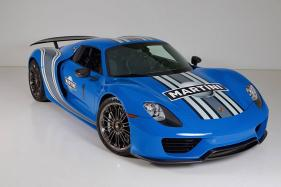 One-Off Porsche 918 Spyder Hybrid Hyper Exotic with Voodoo Blue Paint Up for Auction