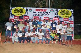 Nataraj Wins 2-Wheeler MRF Mogrip FMSCI National Rally Championship 2017 at Puttur