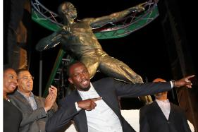 Usain Bolt Overwhelmed by Unveiling of Statue Where it All Began