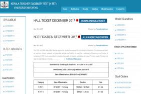 KTET 2017 Hall Tickets Released, Download Now from ktet.kerala.gov.in, Test on 28th & 30th December 2017