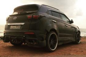 Heavily Modified Hyundai Creta With Black Theme Looks Flamboyant