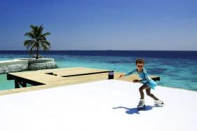 Maldives Gets Its First Outdoor Ice Rink in Time for Christmas
