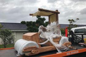 Malaysian Sultan Johar Gets his Own Flintstone Car