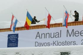 India Toast of Town at Davos, From Billboards to Platters