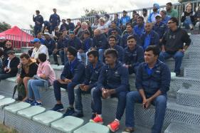 India U-19 Cricket Team Watch Indian Hockey Team Beat Japan in New Zealand