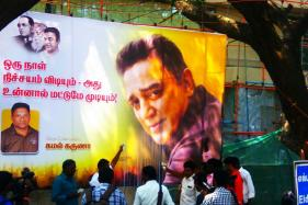 Kamal Haasan's Fans Display Banners With Ambedkar and Periyar Images Outside his Office