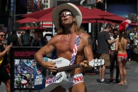 Naked Cowboy Bravely Sings of Love for Donald Trump in Mexico
