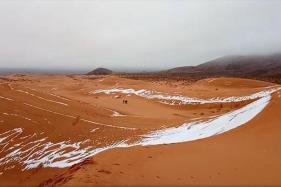 Rare Snowfall Covers Sahara Desert in Sheet of White