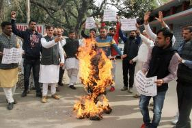 Day in Photos: February 22, 2018; JKNPP Protest Against BJP