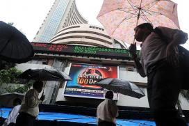 Sensex up 100 Points; Nifty Tops 8,400-mark on Mixed Global Cues