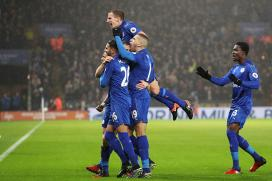 Jamie Vardy Nets Hat-Trick as Leicester City Shock Manchester City 4-2