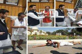 MLA Vinay Bihari Wears Clothes After Centre Approves Budget for Road Construction