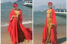 Sonam Kapoor Looks Resplendent In a Boho-Chic Outfit At Cannes 2017