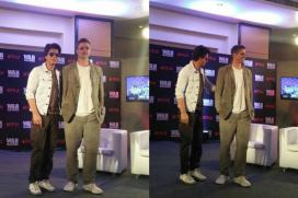 Brad Makes Pitt-stop in Mumbai, Meets Shah Rukh Khan