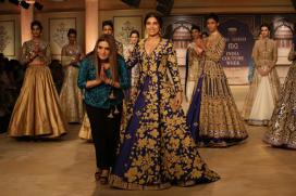 ICW 2017: Bhumi Pednekar Turns a Muse for Reynu Taandon's Mystic Blue Collection