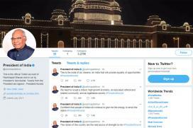 Kovind Takes Over Presidential Twitter Handle