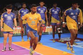 Pro Kabaddi League 2017: UP Yoddha Hold Tamil Thalaivas in Nail-biting Tie