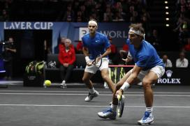 Playing on the Same Team for First Time, Nadal & Federer Cruise to Win