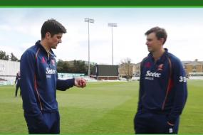 Alastair Cook Shows How to Catch a Ball You Didn't See Coming