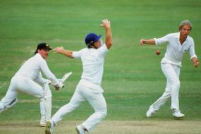 28th June 1985: Gatting Hands Border Lord's Test