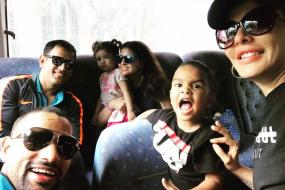 Ziva and Zoravar Bond as Virat Kohli & Boys Travel to Antigua