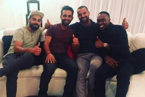 Kohli & Boys Find the Perfect Place to Celebrate Win over Windies
