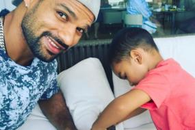 West Indies vs India: Dhawan Battles It Out With Son Zoravar