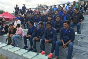 India U-19 Cricket Team Watch Indian Hockey Team Beat Japan in New Zealand