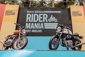 Royal Enfield Interceptor and Continental GT 650 Twin Debuts at Rider Mania 2017