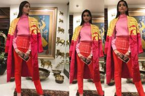 Sonam Kapoor Makes a Splash at an Event with a Colorful Fashion Ensemble; See Pic