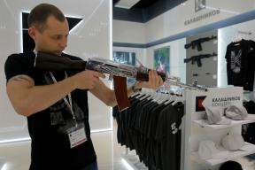 Kalashnikov Shop at Moscow airport Sells AK-47 Models