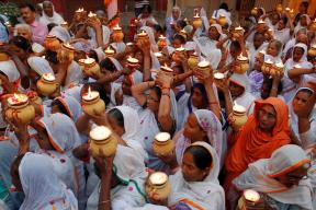 Widows Break Taboo by Celebrating Diwali For the First Time in Vrindavan
