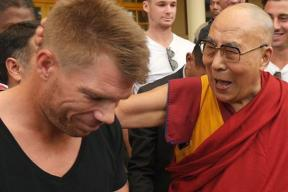 The Dalai Lama Leaves A Lasting Impression on David Warner