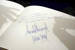 The Way President Trump Signs Guest Books is Different