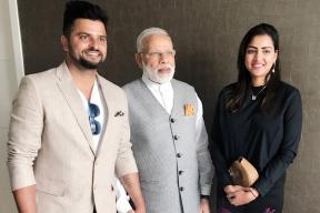 Suresh Raina Meets Prime Minister Narendra Modi in The Netherlands