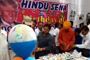 Hindu Sena celebrates Donald Trump's birthday