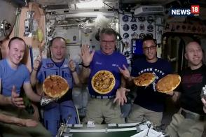 First-ever Pizza Party in Space!