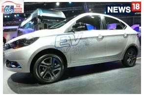 Auto Expo 2018: First Look of Tata Tigor EV at Auto Expo