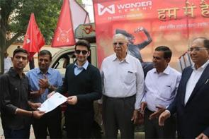 Wonder Cement Flags Off Registration Caravans for Saath:7 Cricket Mahotsav