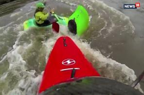 Kayaker Gets Stuck in Whirlpool