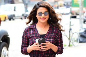 Priyanka Chopra on the set of 'Isn't It Romantic' in New York