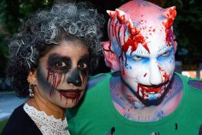 The 'Zombie Walk' at World Bodypainting Festival 2017